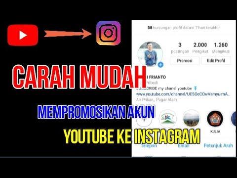 Cara Mudah Mempromosikan Akun Youtube Ke Instagram Youtube