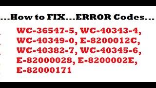 ps4 error code   wc 36547 5   invalid card   work around   wc 40382 7