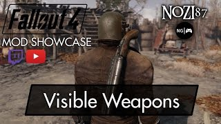 fallout 4 Mod Showcase - Visible Weapons by registrator2000 (includes setup)