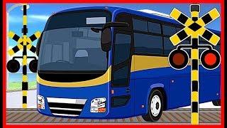 【バスと踏切①】★バス Bus 大集合★  / Various buses  / Railroad Crossing Anime for Kids thumbnail