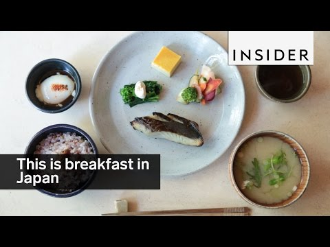 This is what breakfast looks like in Japan