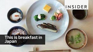 This is what breakfast looks like in Japan