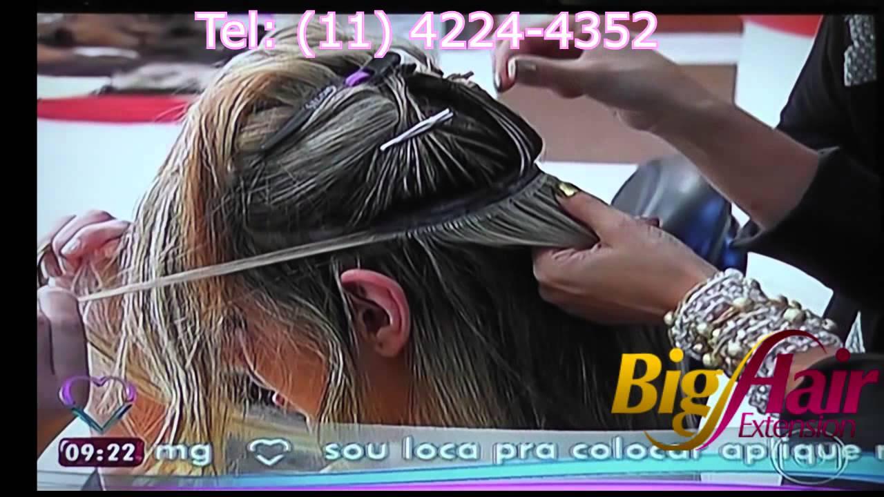 Big Hair Extension Luciana Oliveira Na Ana Maria Braga Youtube