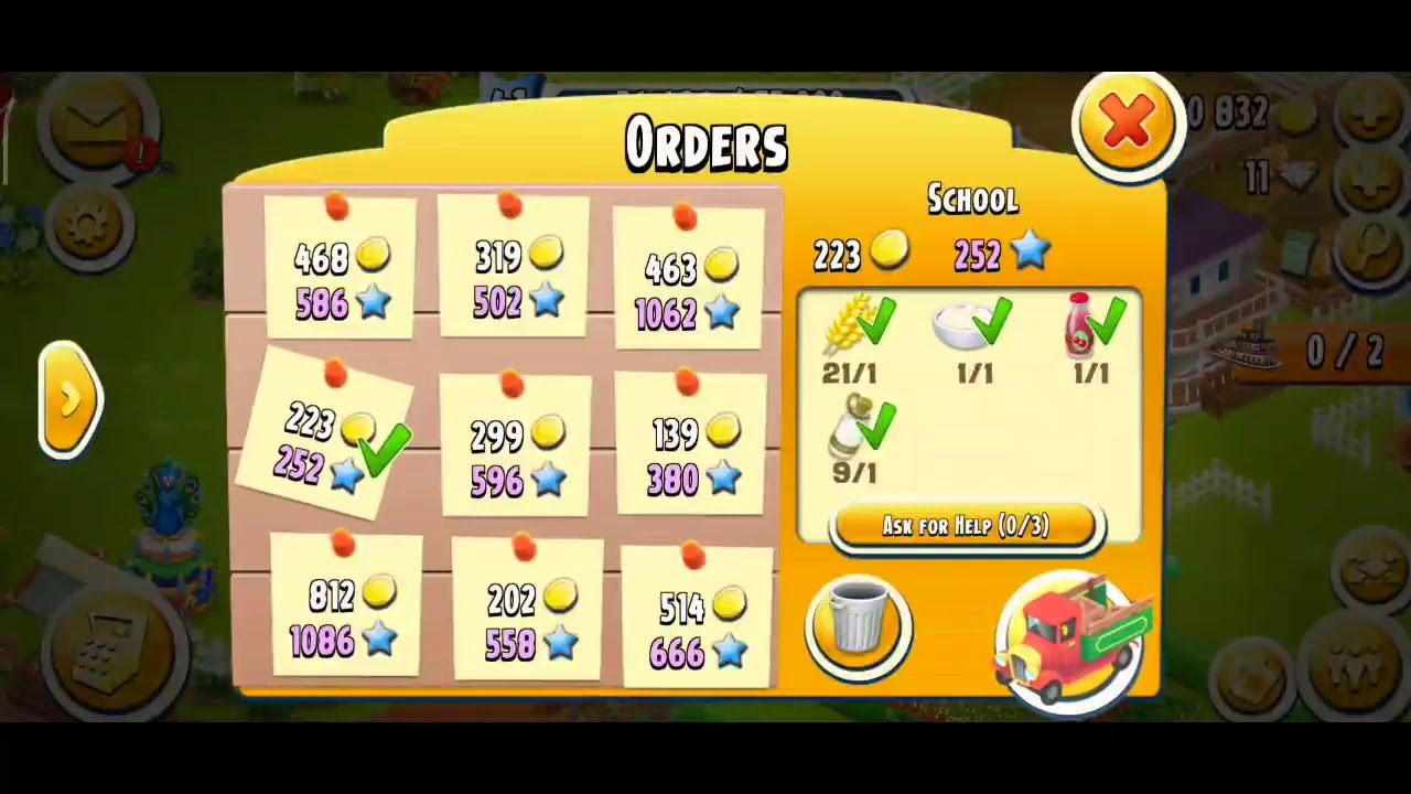 #10 Lets Play Hay Day.....Update barn to 500... - YouTube