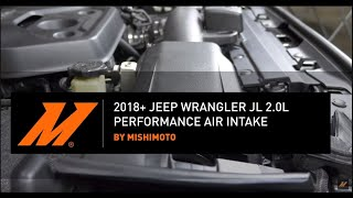 homepage tile video photo for 2018+ Jeep Wrangler JL 2.0L Performance Air Intake Installation Guide by Mishimoto