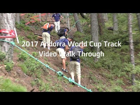 SO STEEP, YOU NEED ROPES TO WALK IT! Vallnord, Andorra World Cup DH Course