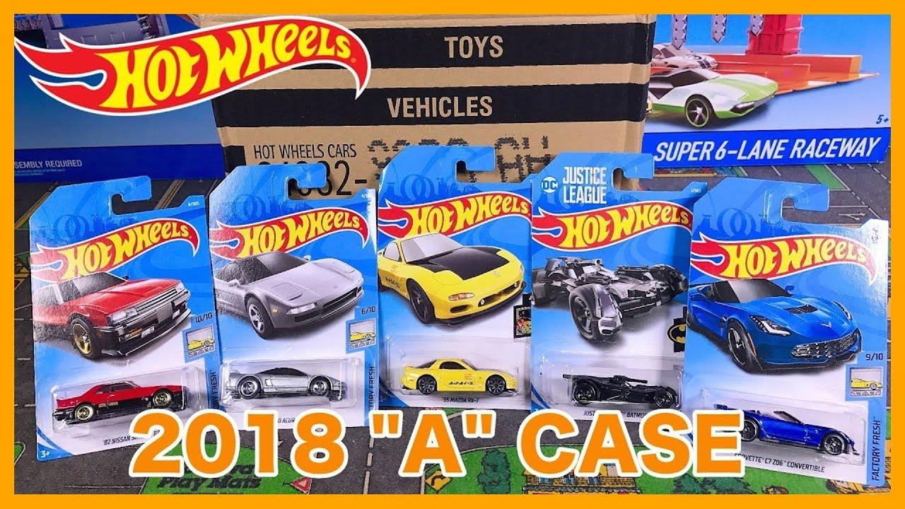 unboxing hot wheels 2018 a case 72 car assortment youtube. Black Bedroom Furniture Sets. Home Design Ideas