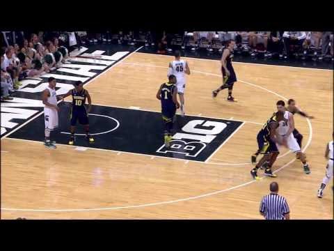2014 Big Ten Men's  Basketball Michigan At Michigan State Highlights