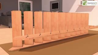 Vidéo: Escalier en bois Savoy: 1/4 tournant, contremarches [SY6]