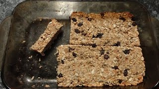 Filling Snack Recipe: Healthy Granola Bars