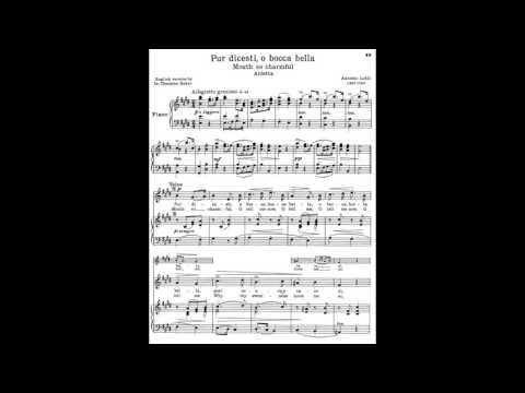 12 Pur dicesti, o bocca bella (from 24 Italian Songs) piano melody with accompaniment