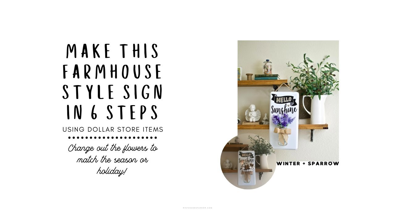 Make A Hello Sunshine Sign In Six Steps [VIDEO] • winter +