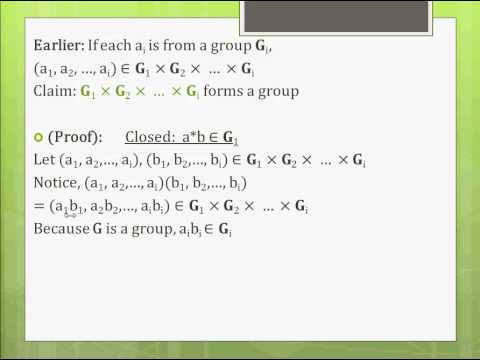 Modern Algebra (Abstract Algebra) Made Easy-Part 7-Direct Products/Finitely Generated Abelian Groups