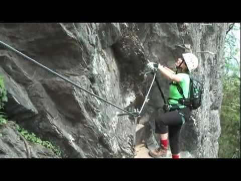 Klettersteig Huterlaner : Huterlaner klettersteig youtube