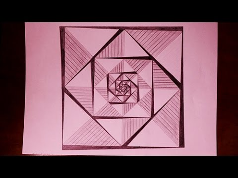 How To Draw Straight Line In Art Studio : How to draw easy geometric square patterns painting youtube