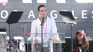 Evan Rachel Wood speaks passionately at LA Women's March