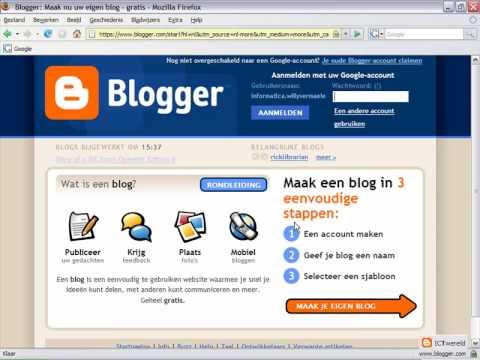 Blogger : Een weblog aanmaken en gebruiken