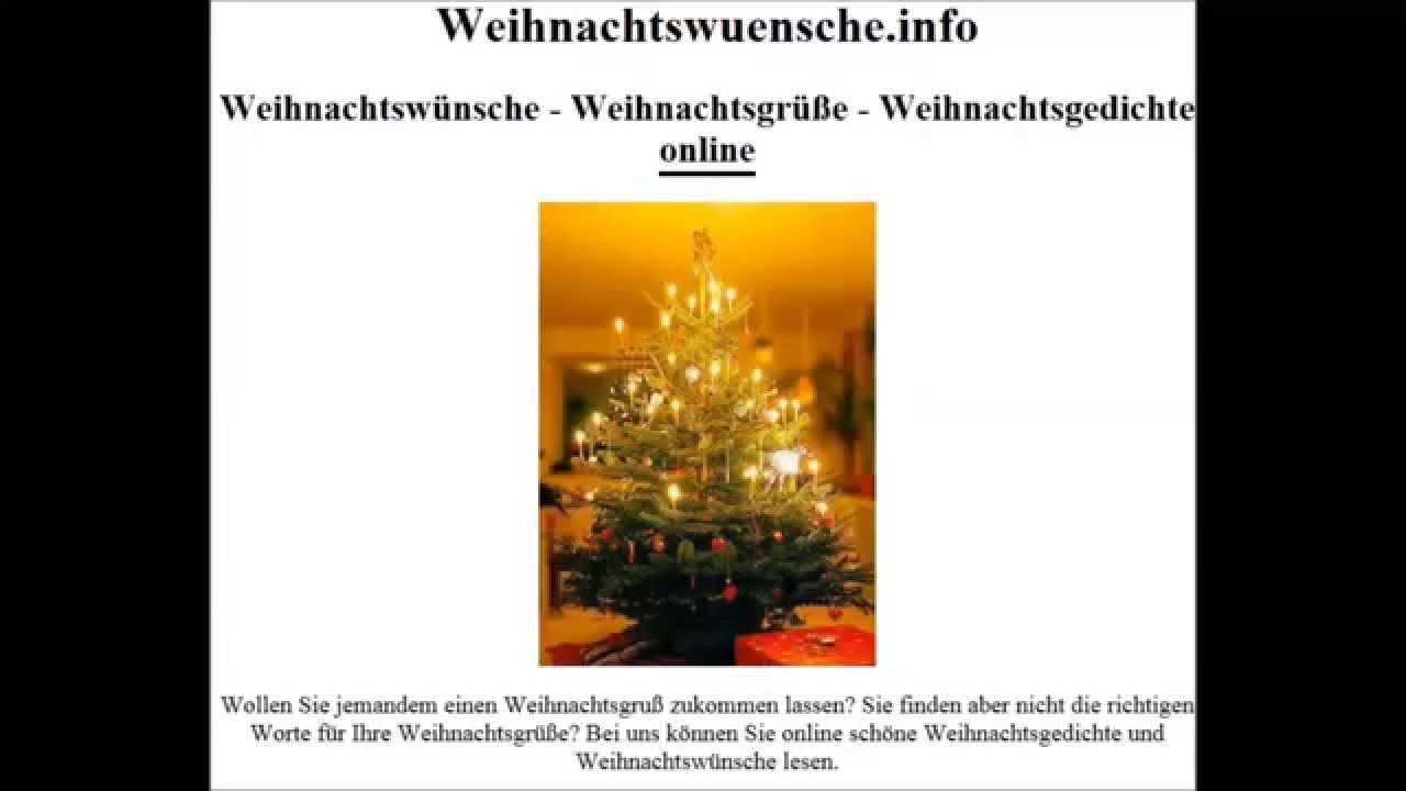 sch ne weihnachtsw nsche weihnachtsgr e youtube