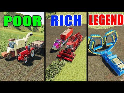 Farming Simulator 19: POOR Vs RICH Vs LEGEND!!! Sugar Beet Harvest Comparison!!