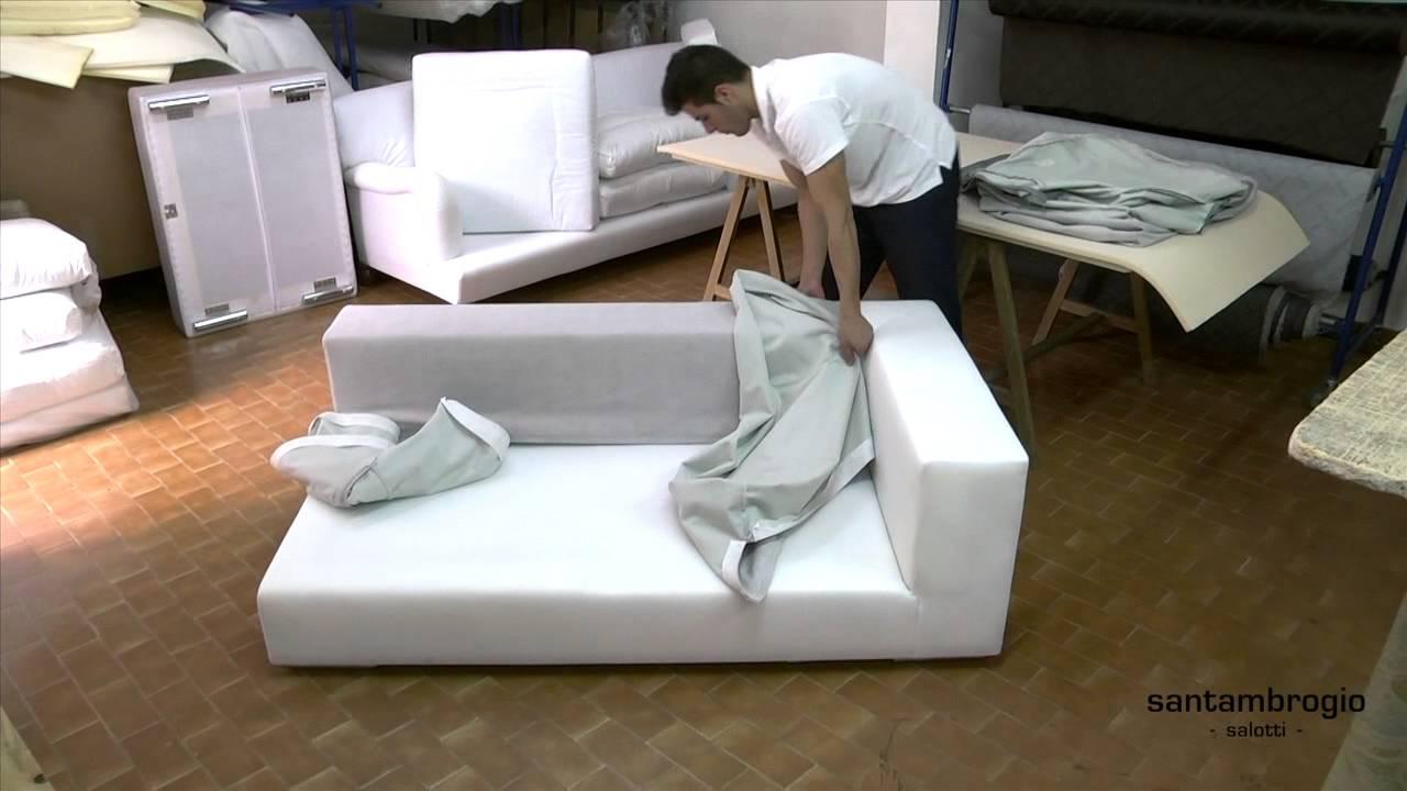 Come togliere il rivestimento di un divano removing the - Cambiare rivestimento divano poltrone e sofa ...
