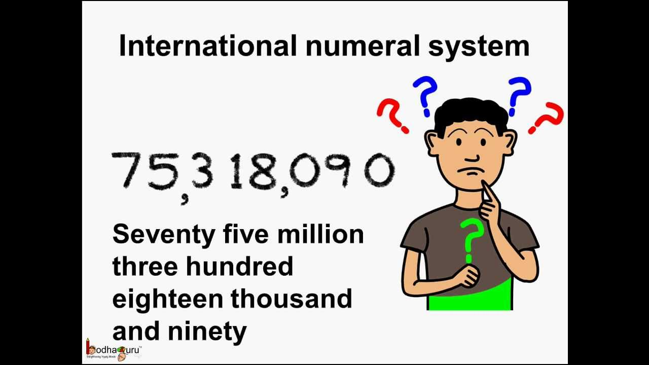 Worksheet Place Value Number System math difference between international and indian number system english youtube