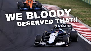 GEORGE RUSSELL FULL TEAM RADIO AFTER FINALLY SCORING POINTS FOR WILLIAMS!!!   2021 Hungarian GP