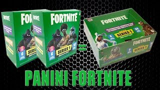 Panini FORTNITE TRADING CARDS SERIE 1 | MEGA BLASTER vs. DISPLAY BOX 24 PACKS | Unboxing