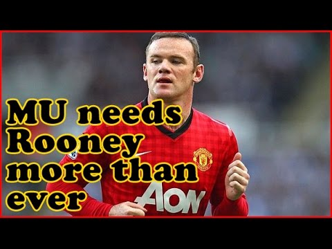 Van Persie injured and Falcao struggling - Manchester United needs Rooney more than ever