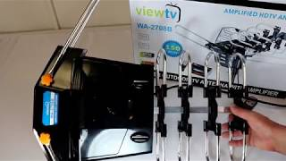 Review: ViewTV WA-2708B  Antenna - 150 Miles Range - 360° Rotation - Wireless Remote
