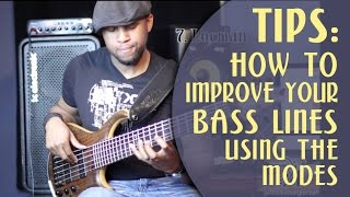 How to improve your bass lines using the modes - Bass Mini Series Lesson 3 - Jermaine Morgan