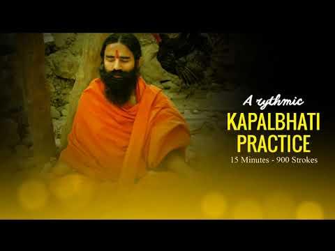 Rhythmic Music for Kapalbhati Practice |  Baba Ramdev | Shining Forehead Breathing Exercise