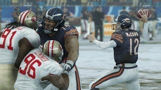 Madden 25 (PS4): Bears vs 49ers Gameplay - 1st Half (Snow)