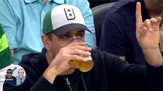 Rating Aaron Rodgers' beer-chugging contest  | Jalen & Jacoby