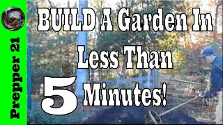 How To Build A Raised Garden Bed In Less Than 5 Minutes!