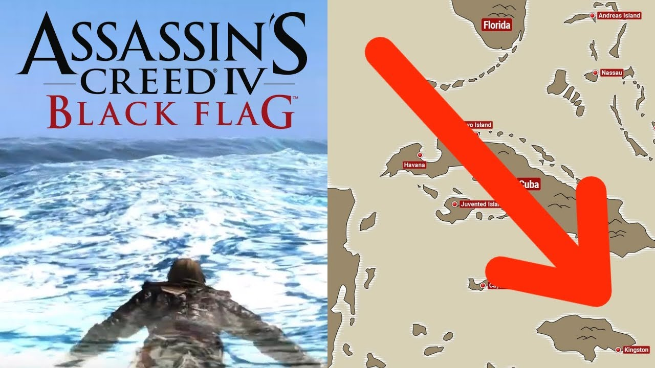 Swim Across The Entire Map In Assassin S Creed Iv Black Flag
