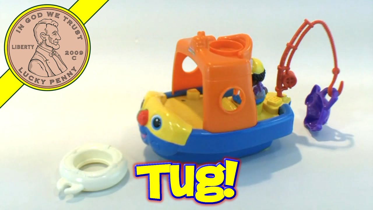 Fisher-Price Little People Baby Fishing Floaty Tug Boat Ship Toy ...