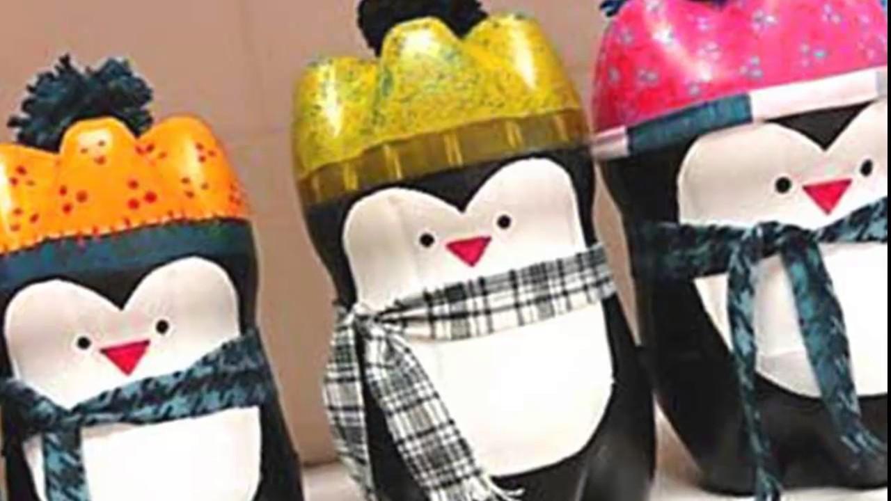 Как сделать из бутылки пингвина
