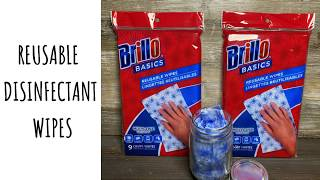 How to Make Disinfectant Wipes  Reusable DIY &quotClorox&quot Wipes