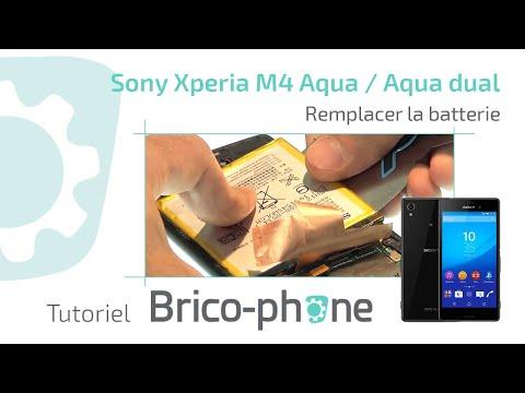 Tuto Sony Xperia M4 Aqua / Aqua Dual : Remplacer la batterie démontage + remontage