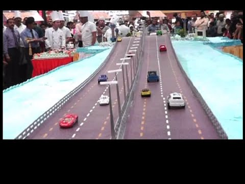 """King Fahd Causeway ""model cake in Saudi ""Food Fiesta 2016""