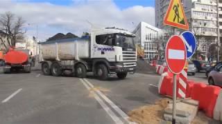 Интересная техника на реконструкции Шулявского моста в Киеве