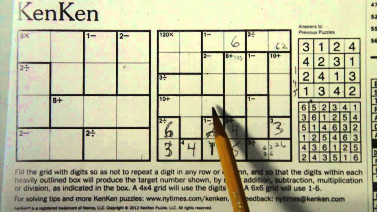 graphic regarding Kenken Printable named sudoku kenken no cost
