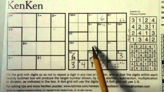 Solving a 6x6 KenKen