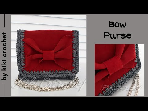 651f1c380c Crochet Leather Purse with Bow - YouTube