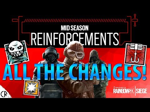ALL CHANGES - Patch Notes - Mid-Season Reinforcements - Tom Clancy's Rainbow Six Siege thumbnail