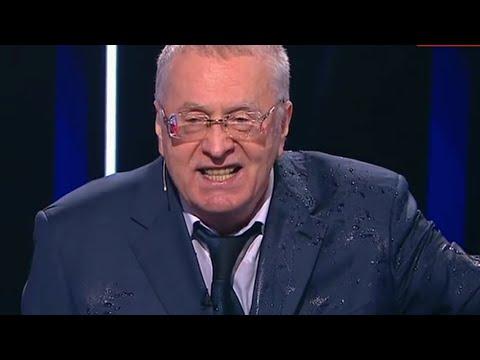 Жириновский обругал Собчак матом на дебатах. Собчак облила его во