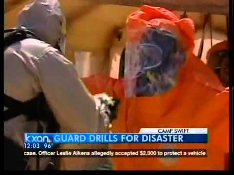 Guard tackles disaster drill