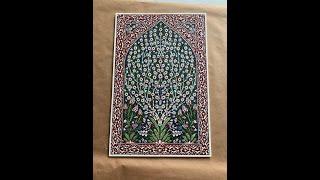 Today Nick's Framing Turkish Tiles!
