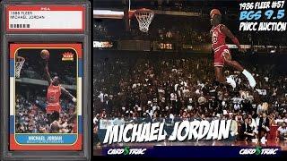 1986 Michael Jordan Fleer #57 rookie cards for sale; graded BGS 9.5; PWCC Premier Auctions