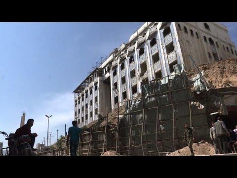 Syria Regime Organises Press Tour Of Eastern Ghouta S Douma Youtube